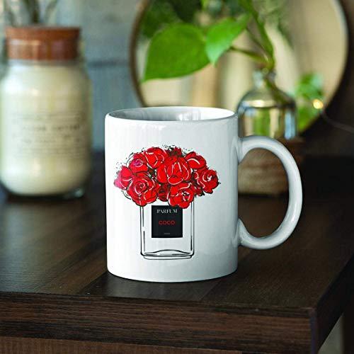 N\A La Taza de café con Perfume Coco Chanel es un Gran, Taza de té, Regalo para mamá, Regalos para Amigos o Regalo para Mujeres, Bonitas Tazas con Refranes