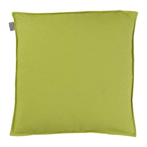 MinaWum Sitzkissen Annabell A88 apfelgrün 40cm x 40cm x 3cm 100% Baumwolle Stuhlkissen mit Reißverschluss inkl. hochwertigem Federkissen Inlett