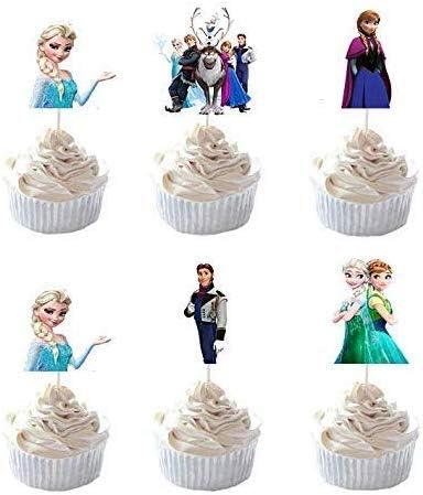 PrincessCake Set of 24 Pieces Department store Cupcake Ranking TOP5 Decorative Cup Cake Frozen