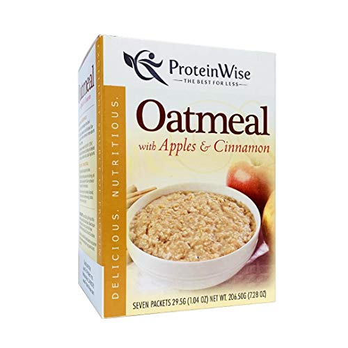 ProteinWise Instant Oatmeal, Apples and Cinnamon, High...