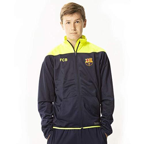 FC Barcelona heren vest 18/19-100% polyester - neon geel - trainingsjack - officieel FC Barcelona product