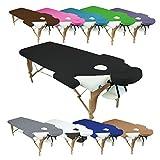 Vivezen ® Drap housse de protection 4 pièces en éponge pour table de massage - 10 coloris - Norme CE