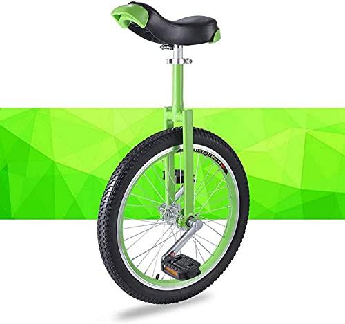 Monociclos para niños, adultos, principiantes, monociclo de ruedas de 16/18/20 pulgadas con llanta de aleación, neumático antideslizante, ejercicio de equilibrio, divertido, fitness, bicicleta de equ