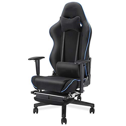 Chair Computer Stuhl Gaming Stuhl Arbeitsstuhl Bürostuhl Spielstuhl Dunkler Thron mit Fußwischer