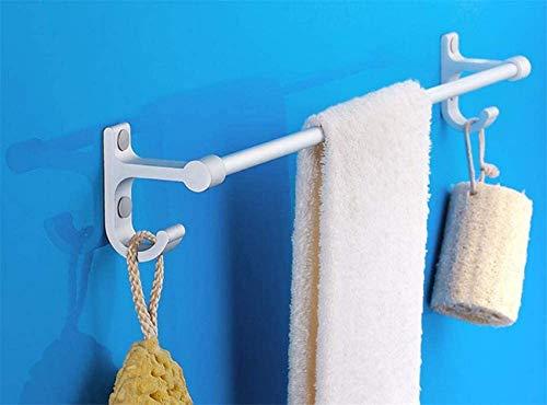 Toallero de Aluminio Espacial, Barra de Toalla Duradera oxidada, toallero audaz de un Solo Poste para baño, Cocina, Oficina, sin Perforaciones-F 40cm