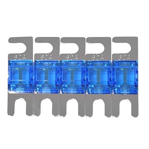 HLY Trading 5pcs vernickelt Auto Stereo-Audio-32V AFS Mini ANL Sicherungen Auto-Bolzen Sicherungen for andere Schaltungsschutzsysteme Auto-Ersatz Sicherungen (Color : Blue)
