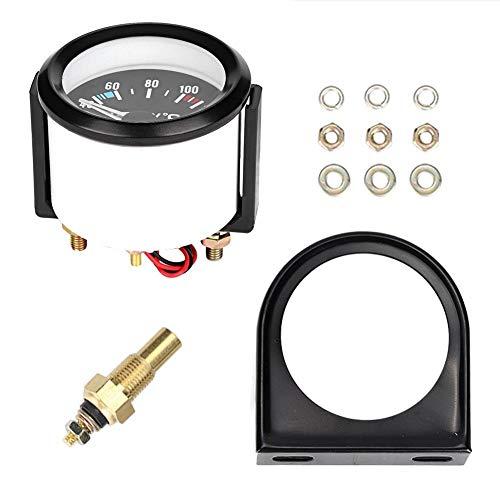 Dingln 2inch 52mm Universal-Auto-LKW-LED Digital Wassertemperaturanzeige Instrument Werkzeug