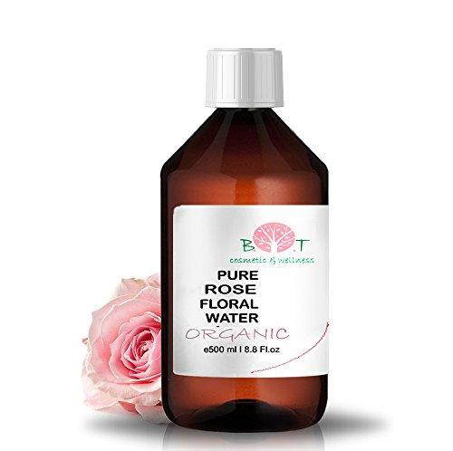 Agua Floral Puro Ecológico Hidrolato de Rosa ORGÁNICO Piel Sensible/Piel Madura 500 ml