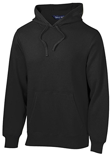 SPORT-TEK Men's Pullover Hooded Sweatshirt L Black