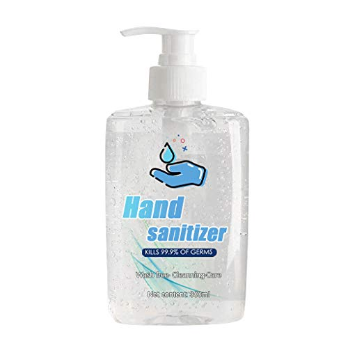 Respctful✿300 ML Hand Sanitizers Pump Bottle Large Hand wash Gel Disposable Water-Free Liquid Hand Soap, Quick Drying Hand Wash for Anti-Bacteria Maintaining Clean Hands Sanitizer Gel