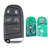 Heart Horse 5-Button 433MHZ Chip Smart Remote Key Fob for 2014-2018 JEE-p Grand Cherokee Renegade (P/N: M3N-40821302)