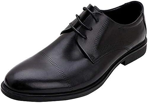 FuWeißncore 949 5000 Herren Lace Up Derby Schuhe Business Kleid Schuhe Hochzeit Schuhe Mode Schwarz(Farbe   Schwarz Größe   40EU)