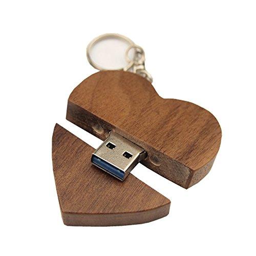 FeliSun Personnalisé en bois Coeur USB3.0 Unidad de memoria flash Pendrive 64 GB 32 GB 16 GB Haute Vitesse U disque Mémoire Stick Stockage Externe Photographie De Mariage Cadeaux