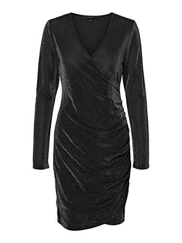 VERO MODA Onlamaze Reg An Pip Dnm Jeans Bj14550-6 Vestido de fiesta para Mujer, Negro (Black Detail:...