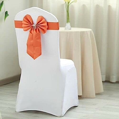 5 pcs Reversible Satin and Faux naKN Tie 2021 spring and summer new Bow Chair Superior Leather Sashe