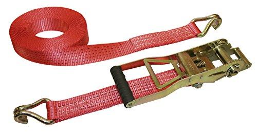 Kerbl 37174 Zurrgurt 2-teilig, 10 m / 50 mm Ergo, 2500 / 5000 kg Langhebelzugratsch, rot