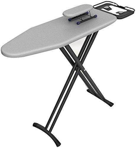 Decoración de muebles Tabla de planchar para el hogar Lavandería Tabla de planchar Reforzada y estable Cómoda tabla de planchar resistente al calor Soporte de plancha de vapor vertical de acero ino