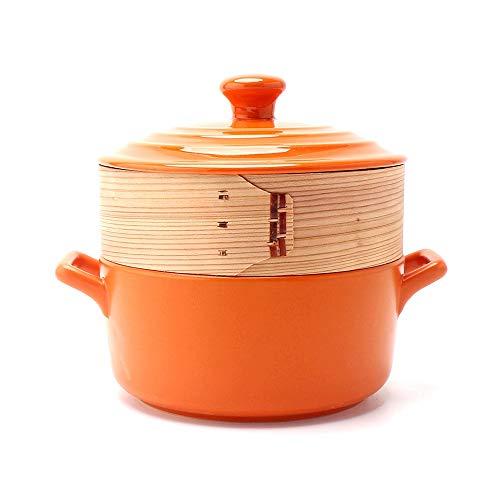 Céramique Casserole Chef Classic Steamer 2L Cuisson Bouillante Résistante À La Chaleur Cuisson Anti-adhésive Saine Cuisine Cuisine Ou Restaurant, Cadeaux À Diverses Fins Pot de soupe