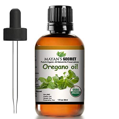 Mayan's Secret USDA Certified Organic Oregano Essential Oil (100% Pure & Natural - UNDILUTED)...