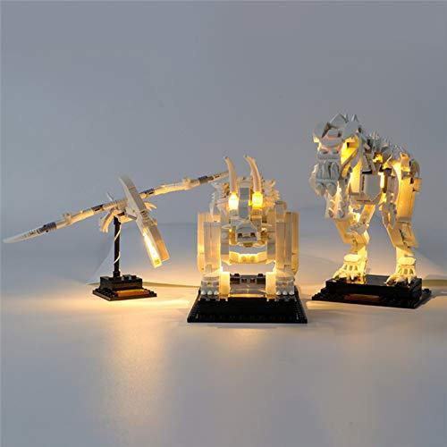 Set di Luci per Fossili di Dinosauro Modello da Costruire, Kit di Illuminazione a LED Compatibile con Il Modello Lego 21320 (Non includere Il Set di Lego)