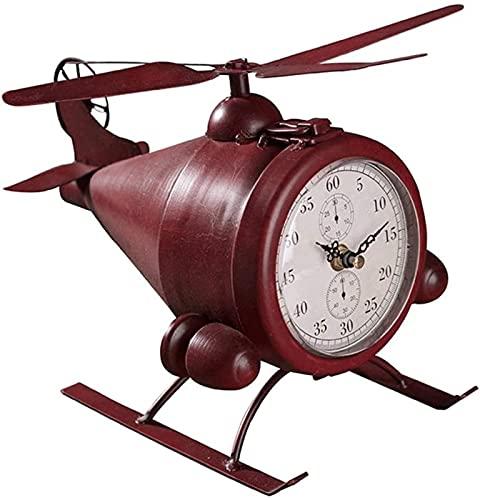 Reloj de mesa Retro Hierro forjado Asiento de avión Reloj Reloj Sala de estar creativa Gabinete de vino Gabinete de TV Reloj de dormitorio Reloj de escritorio Decoración de escritorio Reloj de estante