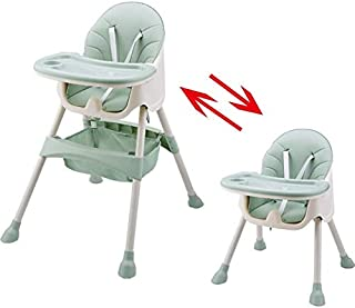 Baby High Chair, Adjustable Booster Seat, Toddler Chair with Removable Tray 5-piont Harness and Adjustable Height Legs, fo...
