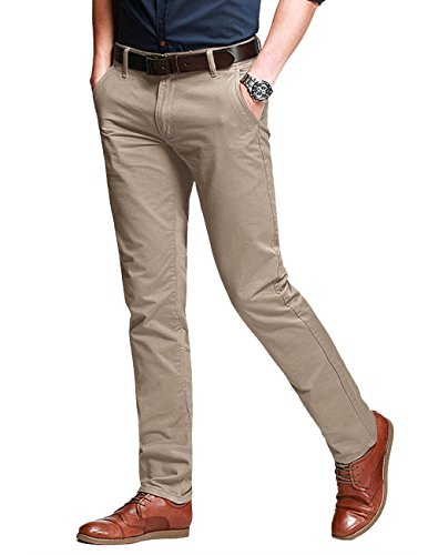 Match Men's Fit Tapered Stretchy Casual Pants (34W x 31L, 8106 Apricot)