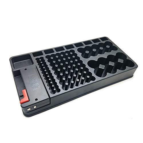 ZQEDY Probador batería Plástico Gran Capacidad Operación Simple Organizador Uso en el hogar Caja portátil Herramienta pequeña Varios tamaños Estuche Almacenamiento extraíble para Pilas A 9V C D