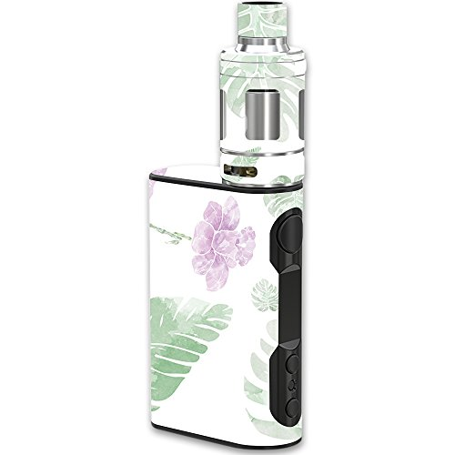 MightySkins Skin Compatible with Eleaf iStick QC Kit – Water Color Flowers | Protective, Durable, and Unique Vinyl Decal wrap Cover | Easy to Apply, Remove, and Change Styles | Made in The USA
