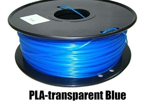 LSB-3D Prints, 1pc 3d Printer PLA Filament Diameter 1.75mm Polylactic Acid 1kg Fit For Filamento 3d Pen Printing Z18 Tray Rack Abdos (Color : Tran Blue)