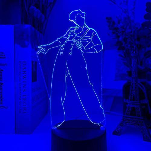 Luz De Ilusión 3D Luz De Noche Led Regalo Usb Para Ventiladores Decoración De Dormitorio Lámpara De Escritorio De Trabajo Que Cambia De Color Touchensor