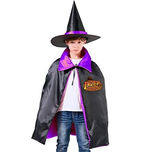 NUJSHF Indys Adventure Camp Indiana Jones Unisex Kinder Kapuzenumhang Umhang Umhang Cape Halloween Party Dekoration Rolle Cosplay Kostüme Outwear