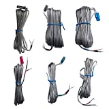 A Set of 6 Speaker Wires for Samsung HT-X250 HT-X40 HT-X715 HT-X725 HT-BD2E HT-BD1250 HTBD1250S/XAX HTX40T/XAA HTZ310TXAA Home Theater System