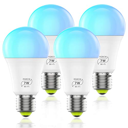 HaoDeng WIFI スマート LED電球 カラフル(1600万色+電球色+昼光色 )AlexaとGoogle Homeで使用 アレクサ対...