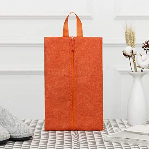 WYMBM 5Pc Travel Oxford Stoff Schuhtasche Outdoor Schuh Aufbewahrungstasche Faltbare Schuhtasche-Orange