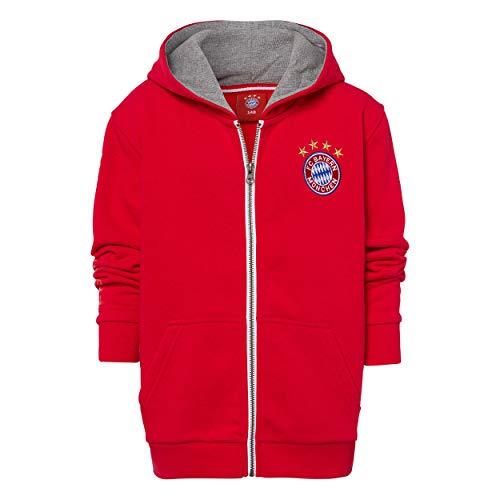 Bayern MÜNCHEN kompatibel Kinder Kapuzenjacke + Sticker München Forever, FCB, Jacke (152, rot)