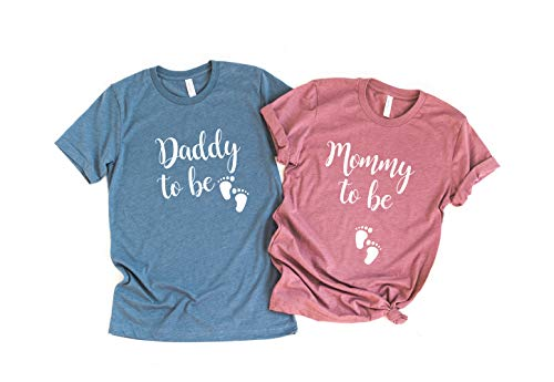 Mommy to be Shirt Daddy to be Couple Pregnancy Reveal New Dad Shirt New Mom Shirt