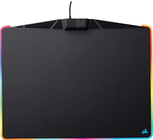 Corsair MM800 RGB Polaris Tapis de Souris Gaming (Moyen, 15 Zones RGB, Surface Dure) Noir