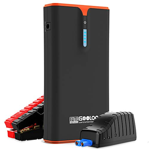 GOOLOO 1500A Peak SuperSafe Car Jump Starter (Up to 8.0L Gas or 6.0L Diesel Engine) with USB Quick Charge, 18W Power Delivery Type-C Phone Charger, 12V Portable Power Pack Auto Battery Booster