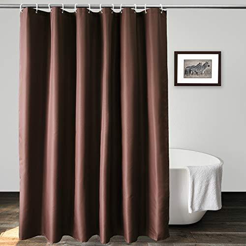 UFRIDAY Duschvorhang aus Polyester, wasserdicht, Standardgröße, strapazierfähig, Schokoladenbraun, 183 x 183 cm
