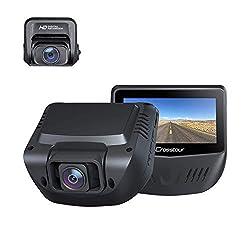 ドライブレコーダー 前後カメラ Crosstour 外部GPS 前後1080PフルHD 前後170広角 超暗視機能 1200万画素 高画質 前後2カメラ同時録画 動体感知 Gセンサー 高速起動 上書き録画 リアカメラ ドラレコ 車載カメラ 日本語取扱説明書付き 13月保証 CR900