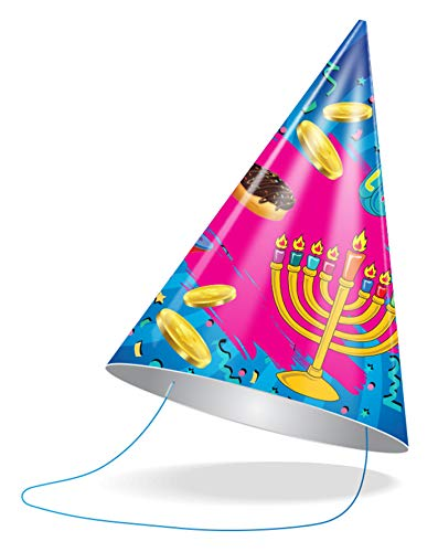 Izzy 'n' Dizzy Hanukkah Party Hats - Hanukkah Paper Goods - 10 Pack