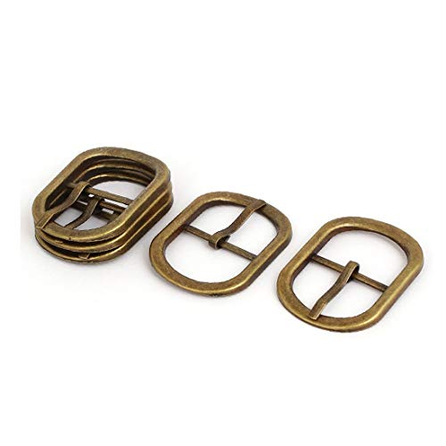 New Lon0167 45mmx32mmx3.5mm Oval Featured Shape Pin Buckle Reliable Efficacy Suitcase Bag Fitting Bronze Tone 5pcs(id:c0c 2e 93 2fa)