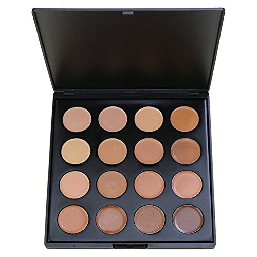 Contour Palette, Vodisa 16 Color Natural Highlighter Face Base Foundation Kit Makeup Set, Cheek Foundation Pressed Powder Beauty Cosmetics Make Up Bronze Contouring and Highlighting Pallet