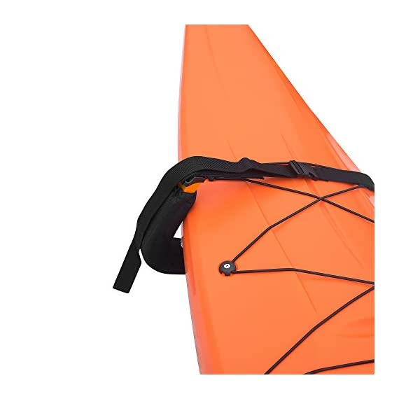 Kayak Storage Hooks – Wall Mount Garage Hangers with 125 lb Capacity for Kayaks or Paddleboards by Rad Sportz 7 KAYAK WALL MOUNT – The hangers provide an easy way to mount your kayak or paddleboard neatly on the wall of your garage or shed SECURE STORAGE – Constructed from sturdy powder coated steel, and equipped with nylon holding straps and clips, the hooks can be mounted right into your wall studs to safely store equipment up to 125-pounds FOAM PADDED HOOKS – The hooks are designed with a foam padding to protect your kayak or sporting equipment from scratches