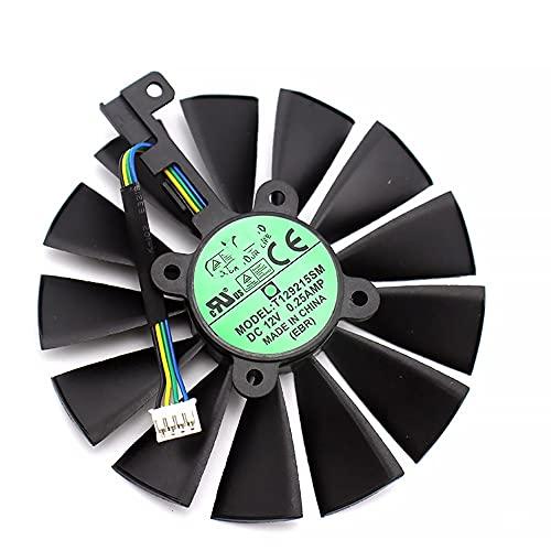 WEIWEIWEI T129215SM 9 Ventilador más frío de 5 mm for ASUS Strix RX 470 570 570 GTX 1050 TI 1070TI 1080TI Tarjeta de videojuega de Juego Ventilador de refrigeración (Blade Color : A Fan)