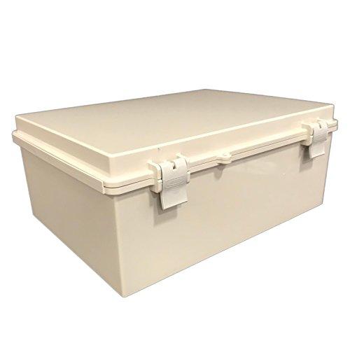 BUD Industries NBF-32026 Plastic ABS NEMA Economy Box with Solid Door, 15-47/64' Length x 11-51/64' Width x 6-9/32' Height, Light Gray Finish