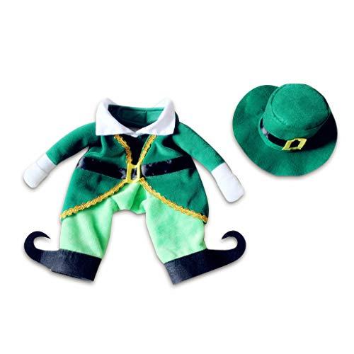 Koobysix hond benodigdheden huisdier kostuum hoed knappe kerst prins stijl hond Puppy Outfit Festival Decor geschenken voor uw hond, S