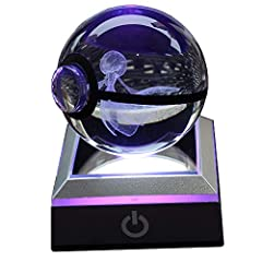Materials: K9 clear cyrstal Size: crystall ball diameter: 6cm ; base : 6.5cm x 6.5cm Power: USB cable or 3x AAA batteries ( Batteries ar not included) Press Touch button to change color: 7 color gradual changing-single cool white-single Red--Single B...