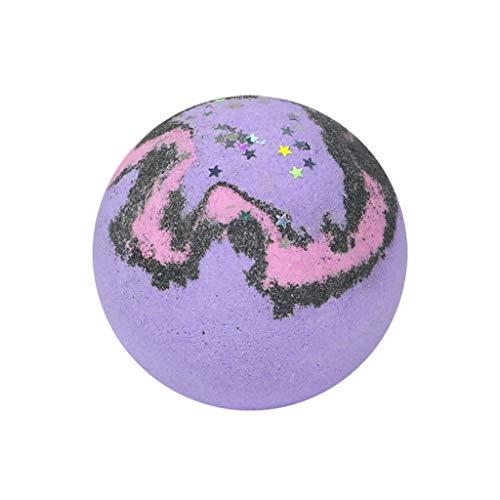 Kecar Star Bathing Bombs Explosion Ball Fizzy Spa Moisturizes Bubble Bath 3pcs, Home & Garden, for New Year (Purple)